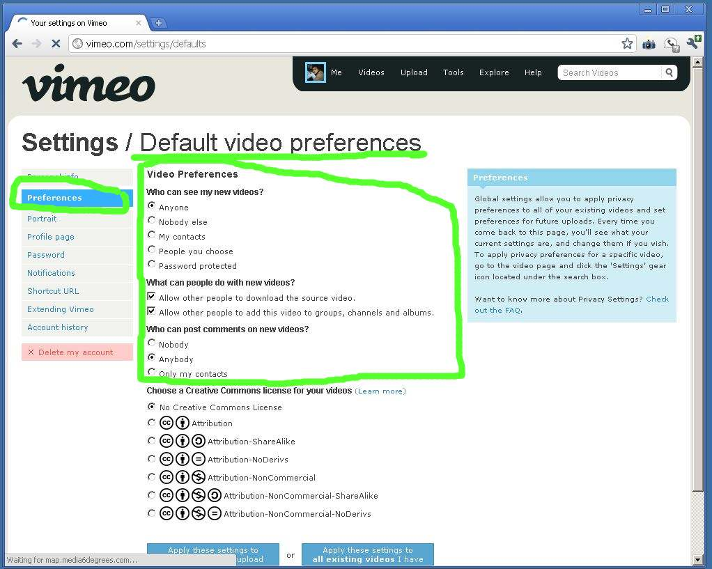 index of files lj how to vimeo